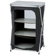 Campingschrank Camping Cabinet - Silberfarben/Schwarz, KONVENTIONELL, Kunststoff/Metall (56/48/86cm)