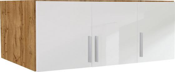 Nástavec Na Skříň K 3-dveřové Skříni, Dub Wotan - bílá/barvy dubu, Moderní, dřevo (136/40/54cm)
