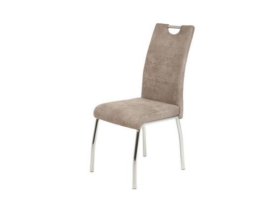 Stolička Susi Ii - chrómová/béžová, Moderný, kov/textil (44/98/61cm)