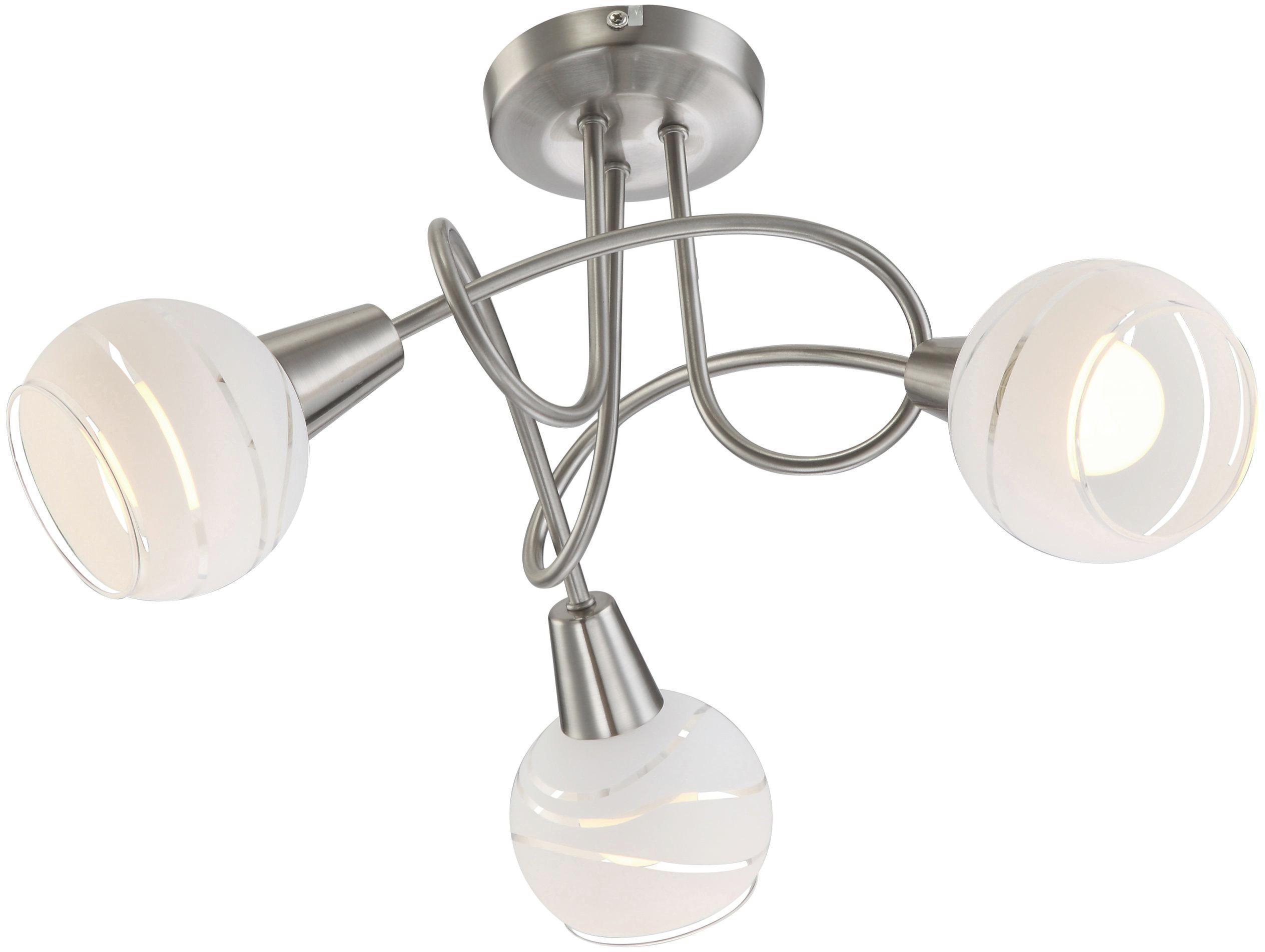 Mennyezeti Lámpa Olivia - konvencionális, üveg/fém (39cm)