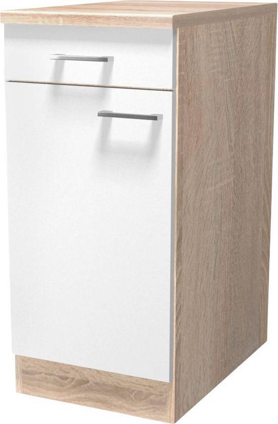 Küchenunterschrank samoa us 40 eichefarben weiß konventionell holzwerkstoff 40 85