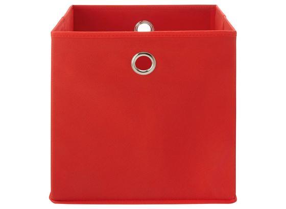 Skládací Krabice Fibi -ext- -top-based- - červená, Moderní, kov/karton (30/30/30cm) - Based