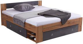 Posteľ Azurro 180 - farby dubu, Moderný, kompozitné drevo (204/75/185cm)