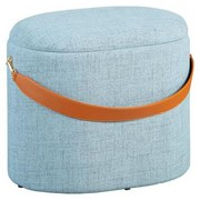 Hocker Dilia B: 42 cm Grau - Grau, Basics, Holzwerkstoff/Textil (42/36/30cm) - MID.YOU