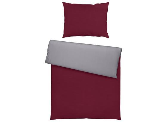 Posteľná Bielizeň Belinda - bordová/strieborná, textil (140/200cm) - Premium Living