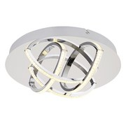 LED-Deckenleuchte Keana D: 32 cm Chromfarben - Klar/Chromfarben, Basics, Kunststoff/Metall (32/11cm)