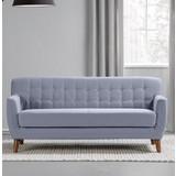 Pohovka Xavier - modrá/sivá, drevo/textil (176/81/76cm) - Mömax modern living