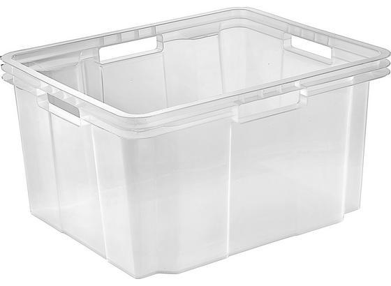 Box Úložný Lukas - průhledné, Basics, umělá hmota (43/23/35cm)