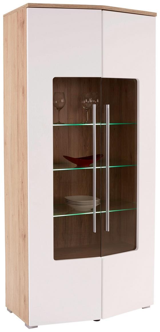 Vitrin Livorno New - tiszta/tölgy színű, konvencionális, faanyagok (90/201/46cm)