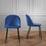 Stolička Selina - čierna/modrá, Moderný, kov/textil (48,5/78/54cm) - Mömax modern living