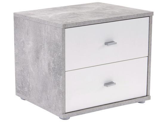 Nočný Stolík 4-you   *cenový Trhák* - biela/svetlosivá, Konvenčný, kompozitné drevo (50/38.1/35.2cm)