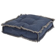 Gartensitzkissen Lena B/L: ca. 45/45cm - Blau, MODERN, Textil (45/45cm)