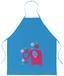 Kinderschürze Zum Malen - Blau/Transparent, Kunststoff (20/24,5/0,3cm)
