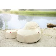 Outdoorsitzsack Slope XL B: 115 cm Beige - Beige, Basics, Textil (115/80/140cm) - Ambia Garden