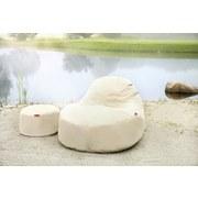 Outdoorsitzsack Slope XL B: 115 cm Beige - Hellgrau, Basics, Textil (115/80/140cm) - Ambia Garden