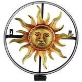 Solarleuchte Sonne - Goldfarben/Schwarz, MODERN, Metall (34,5cm)