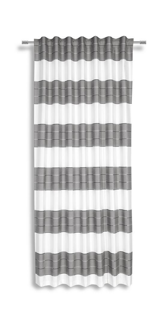 Fertigvorhang Nadine - Silberfarben, KONVENTIONELL, Textil (140/245cm) - Luca Bessoni