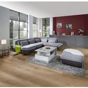 Sedací Souprava Park - světle šedá/antracitová, Moderní, textil (311/233cm) - LUCA BESSONI