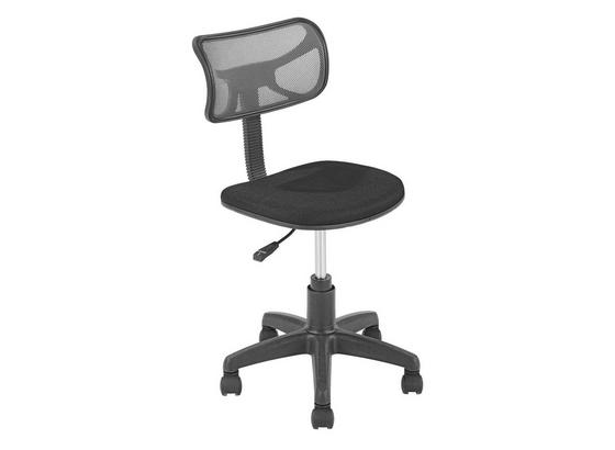 Höhenverstellbarer Drehstuhl Tom für Kinder - Schwarz/Grau, MODERN, Kunststoff/Textil (41/77-89/48cm)