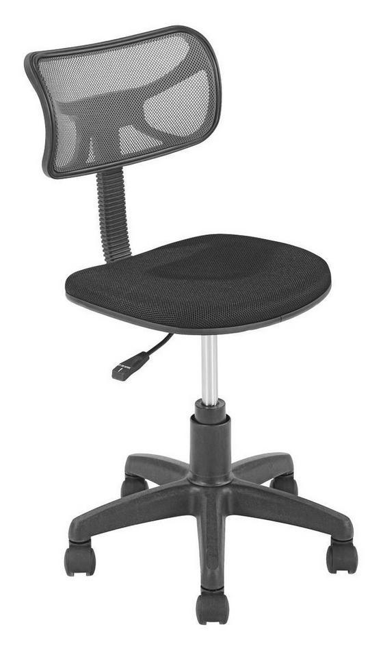 Otočná Stolička Tom   *cenový Trhák* - čierna/sivá, Moderný, umelá hmota/kov (41/77-89/48cm)