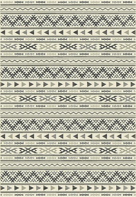 Hladce Tkaný Koberec Kelim 2 - černá/světle šedá, Moderní, textilie (120/170cm) - Mömax modern living