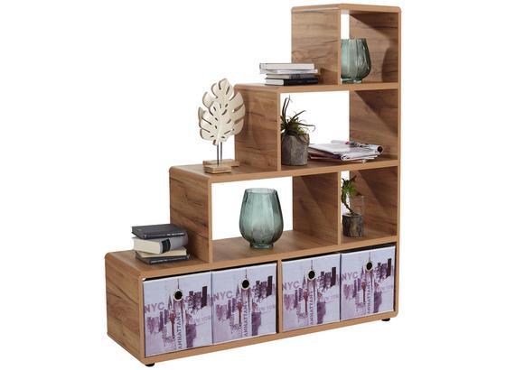 Regál Fontana Ftr03 - farby dubu, Moderný, kompozitné drevo (138,5/148/35cm)