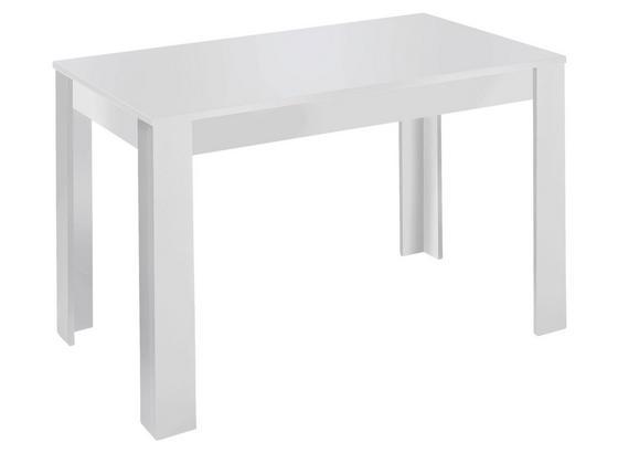 Esstisch Nick L: ca. 140 cm Weiß - Weiß, MODERN, Holzwerkstoff (140/80/75cm) - Livetastic