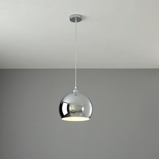Závesná Lampa Konrad - farby chrómu, Moderný, umelá hmota/kov (30/150cm) - Mömax modern living