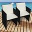 Gartensessel-Set Faro Kunststoff mit Sitzkissen - Beige/Schwarz, Basics, Kunststoff/Textil (52/86/52cm) - Ambia Garden