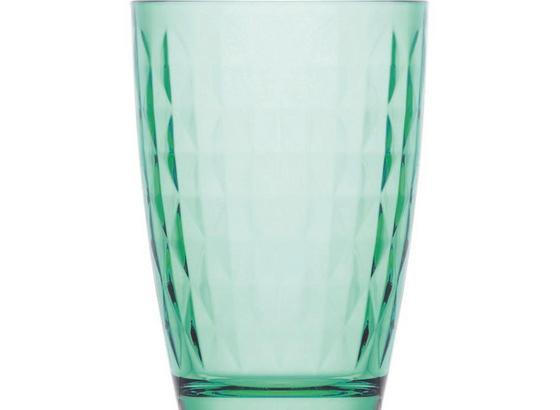 Trinkglas Tanjura 415 ml - Grün, KONVENTIONELL, Glas (8,6/12,2cm) - Luca Bessoni