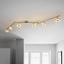Led Bodové Svetlo Star, 180cm, 6x6 Watt - Štýlový, kov/plast (180/13,5cm) - Premium Living