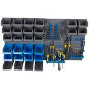 Werkzeugwand Kinzo - Blau/Grau, MODERN, Kunststoff (50/14,2/56,3cm)