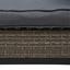 Loungegarnitur Miles - Schwarz/Grau, MODERN, Glas/Kunststoff (202/205cm) - Ombra