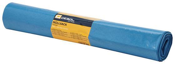 Müllsack 110 L - 10 Stück - Hellblau, KONVENTIONELL, Kunststoff (110l) - Gebol