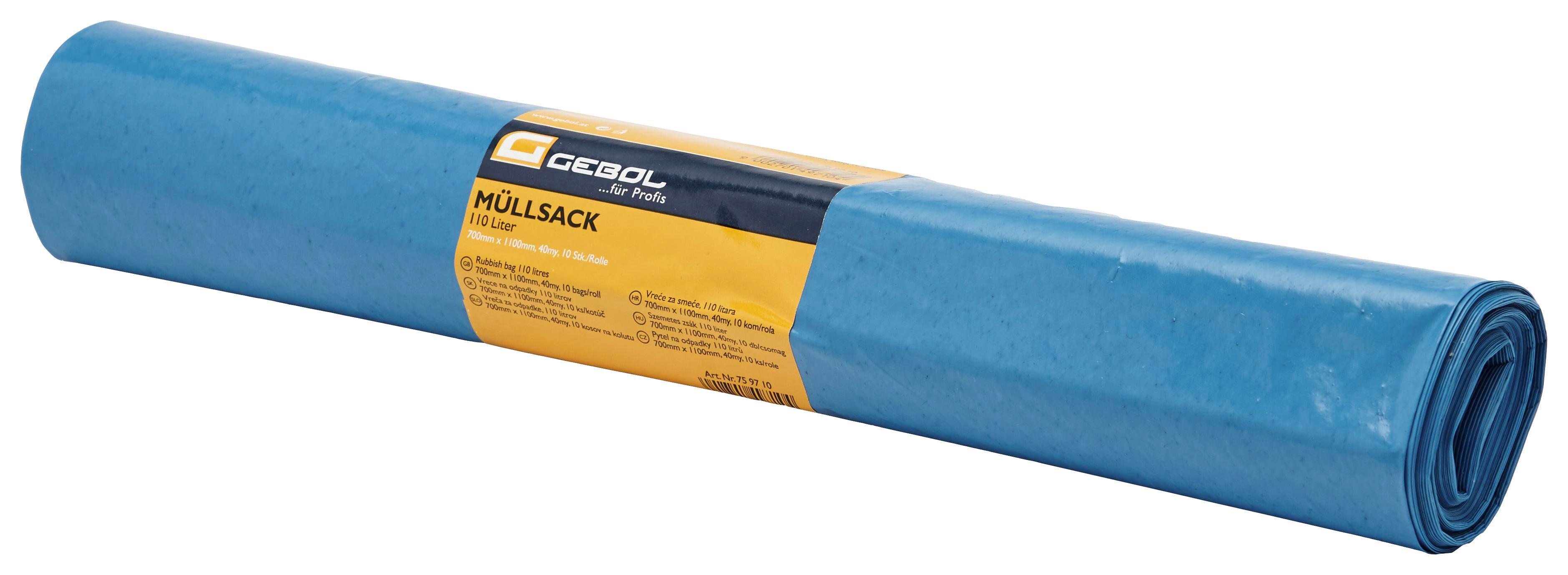 Szemeteszsák 759710 - világos kék, konvencionális, műanyag (110l)