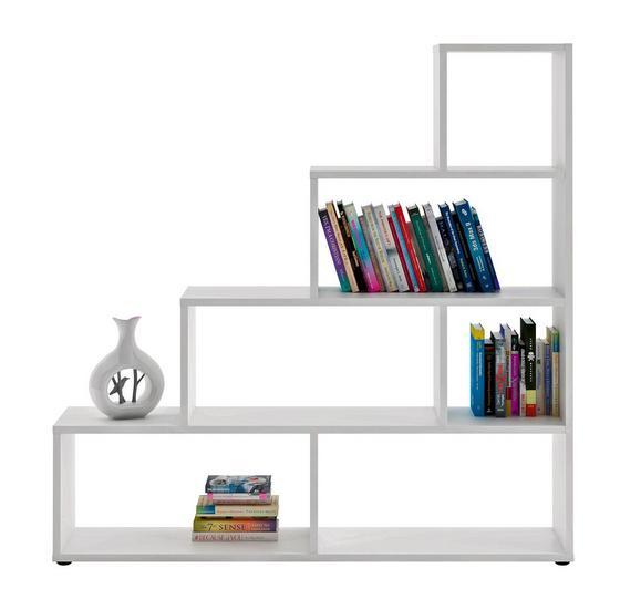 Regál Vico 3 - biela, Moderný, kompozitné drevo (148/148/33cm)