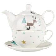 Tea-for-one-Set Sofie, 3-tlg. - Multicolor, ROMANTIK / LANDHAUS, Keramik - James Wood