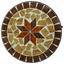 Blumentisch Ambang - Multicolor/Schwarz, MODERN, Metall (39/57,5cm)