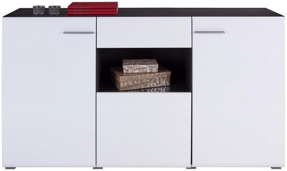 Sideboard Enzo - Alufarben/Schwarz, MODERN, Holzwerkstoff (173/96,5/41,5cm)