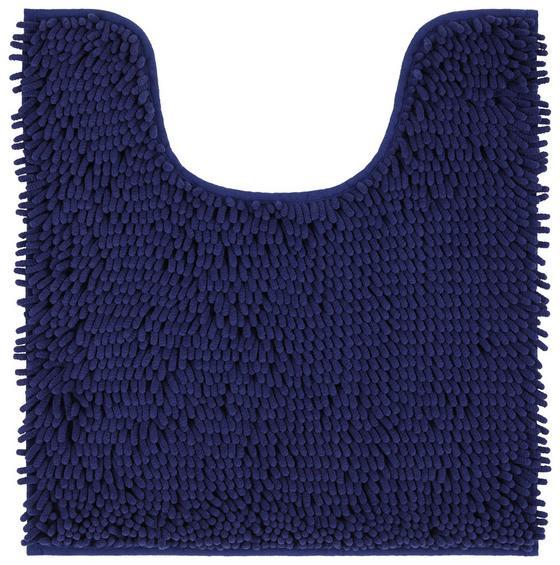 WC-Vorleger Liliane - Dunkelblau, KONVENTIONELL, Textil (45/50cm) - Ombra