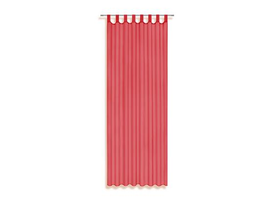 Schlaufenvorhang Utila - Rot, KONVENTIONELL, Textil (140/245cm) - Ombra