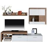 Obývacia Stena Denver - farby dubu/biela, Moderný, drevený materiál (250/170/40cm)