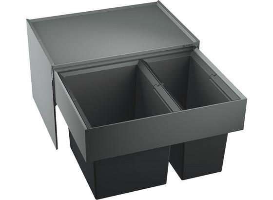 Vstavaný Odpadkový Triedič Select 60/2 - sivá/antracitová, umelá hmota/kov (56,8/36,1/40cm) - Blanco