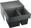 Vstavaný Odpadkový Triedič Select 60/2 - sivá/antracitová, umelá hmota/kov (56,8/36,1/40cm)