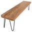 Sitzbank Bagli B: ca. 120 cm - Schwarz/Akaziefarben, MODERN, Holz (120/45/40cm) - Livetastic