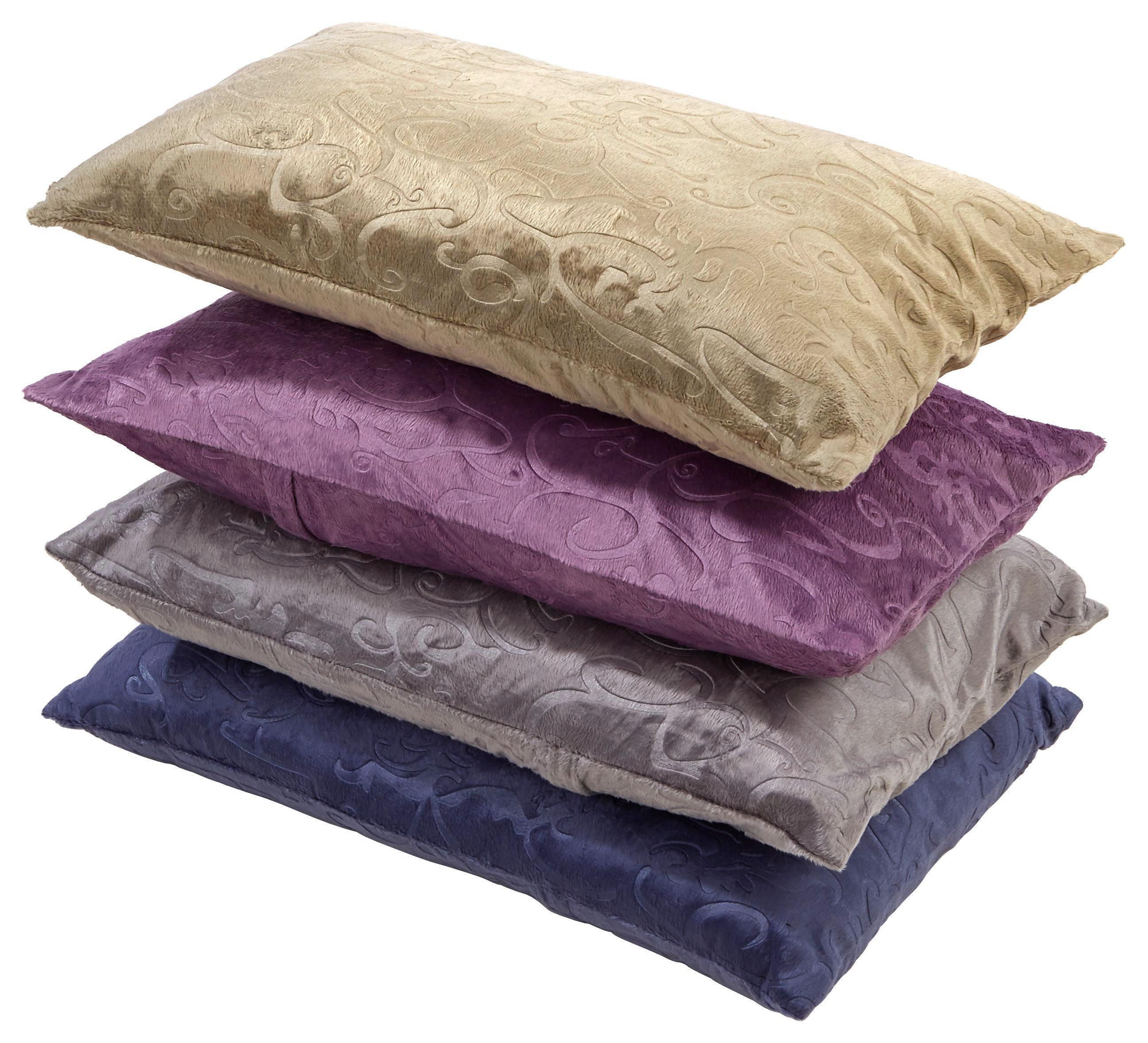 Díszpárna Venezia - homok színű/lila, konvencionális, textil (48/48cm) - OMBRA