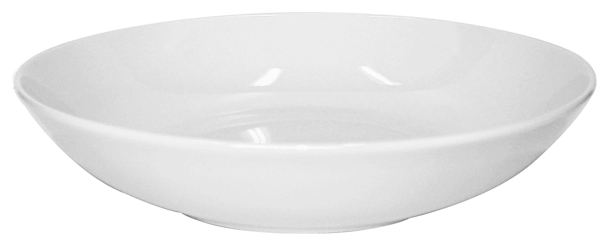 Levesestányér Felicia - fehér, konvencionális, kerámia (20cm) - OMBRA