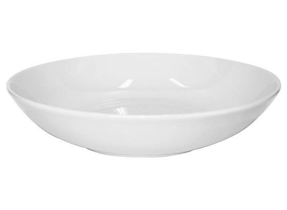 Suppenteller Weiß - Weiß, KONVENTIONELL, Keramik (20cm) - Ombra