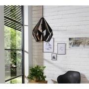 Hängeleuchte Carlton 1 - Silberfarben/Schwarz, MODERN, Metall (31/110cm)