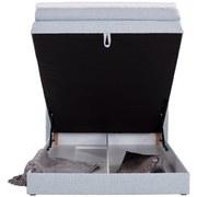 Boxspringbett mit Bettkasten 120x200cm Allegra, Pastellblau - Schwarz/Weiß, KONVENTIONELL, Holz/Holzwerkstoff (120/200cm)